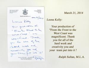 Ralph Sultan's letter + text, alt 2